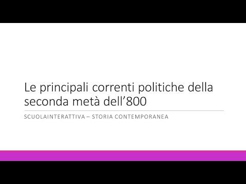 Le principali correnti politiche della seconda metà dell'Ottocento
