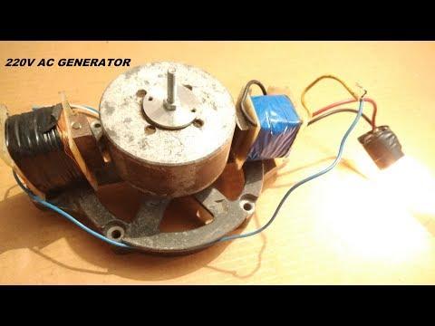 Make A 220V Free Energy Light Bulb AC Generator DIY
