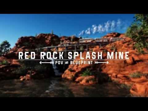 Planet Coaster: Red Rock Splash Mine (POV, Savefile & Cinematic)