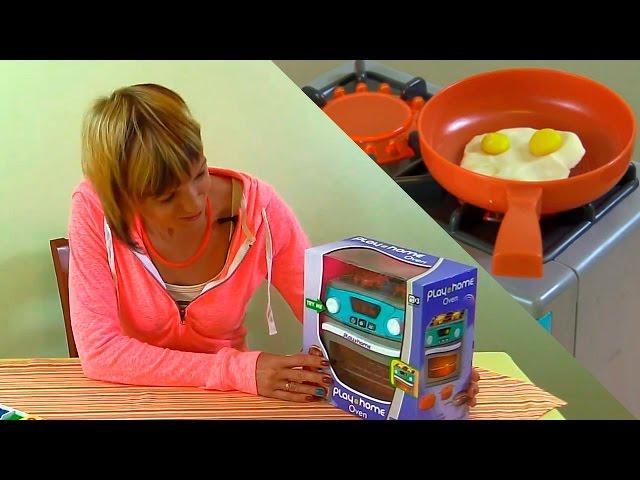 Видео для Детей -  Готовим Вместе - Игрушечная кухня, Пластилин и полезный завтрак