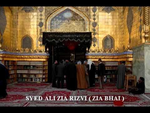 Zainab Nay Kaha Baap Kay Qadmon By Syed Ali Zia Rizvi ( Zia Bhai ) video