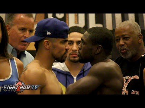 Victor Ortiz vs Andre Berto 2 COMPLETE Weigh In and Face Off Video