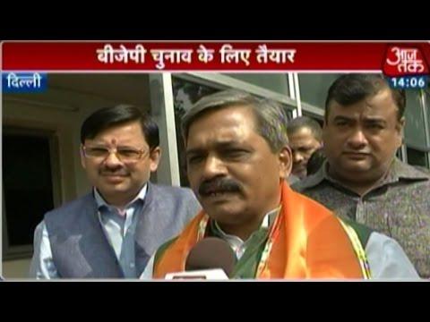 Delhi BJP chief mum on Dr Harsh Vardhan