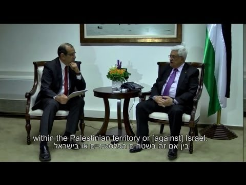 Filmed interview with President Mahmoud Abbas, the Palestinian Authority