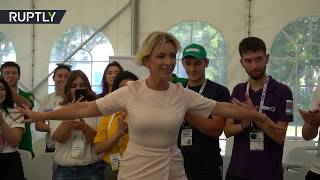 FM spokesperson Zakharova saddles the beat of iconic Caucasus dance