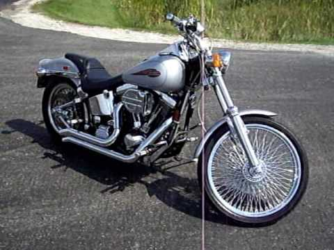 99 Harley Davidson Soft tail! video drive by and walk around