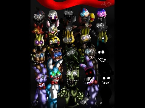 Five nights at Freddy's 1 2 and 3 All Animatronics Speedpaint