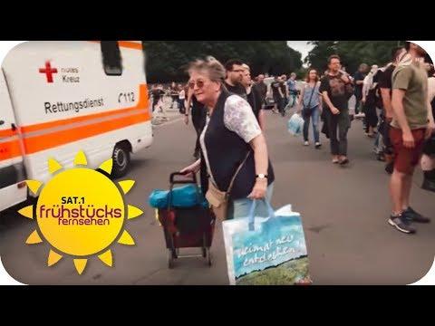2.000 EURO STRAFE wegen FLASCHEN sammeln | SAT.1 Frühstücksfernsehen | TV