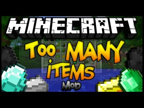 Minecraft - Como instalar TOO MANY ITEMS MOD - CLIENT & SERVER - ESPAÑOL