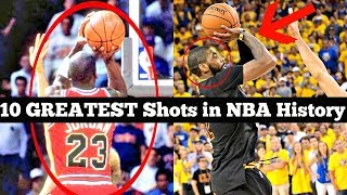 Ranking the 10 GREATEST Shots in NBA History