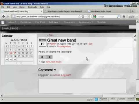 How to Insert Audio or MP3 Files in WordPress | Wordpress how to tutorials Part 17 - Youtube