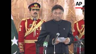 AP cover of swearing in of Pervez Musharraf as civilian president for five yr term