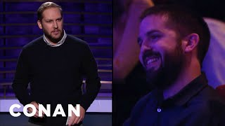 Kyle Ayers Steals An Audience Member's Identity - CONAN on TBS