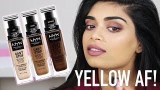 NYX CANT STOP WONT STOP FOUNDATION REVIEW! FOR MEDIUM & INDIAN SKINTONES | Zaahirah Munif