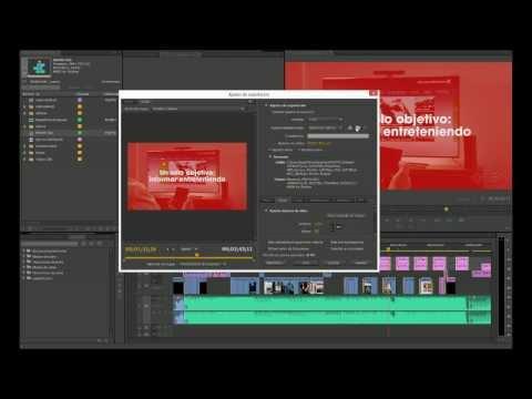 Exportar Adobe Premiere Pro CC modificando el formato