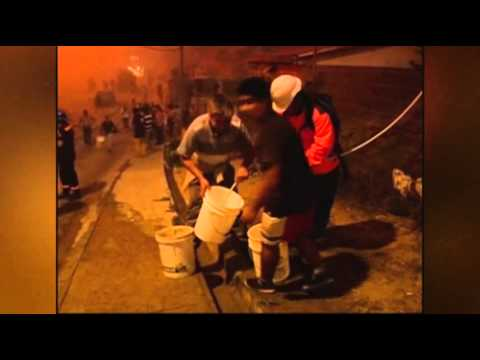 Raw: Fire Rips Through Chilean Community