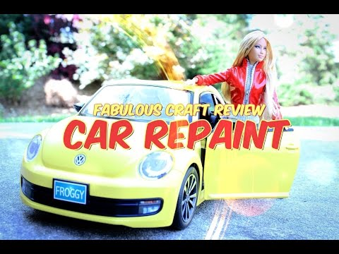 Fabulous Craft Review:  Barbie Car Repaint - Doll Crafts