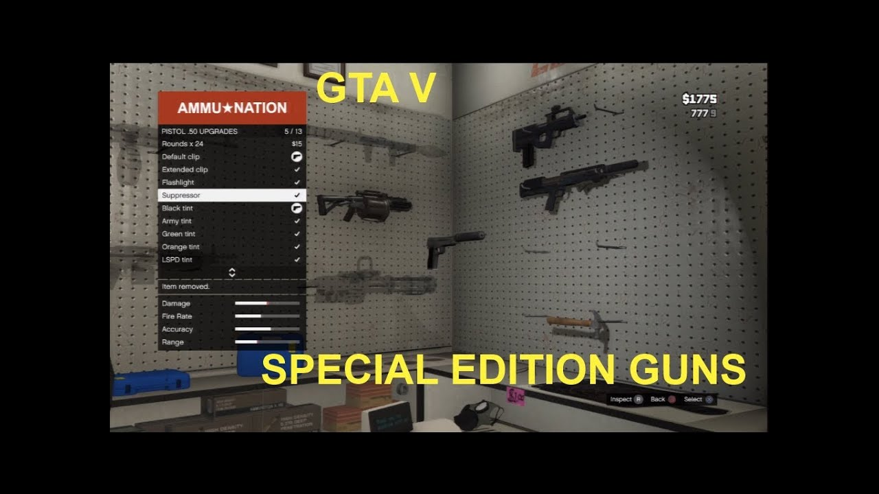 Gta 5 New Guns Gta 5 Special Edition Guns