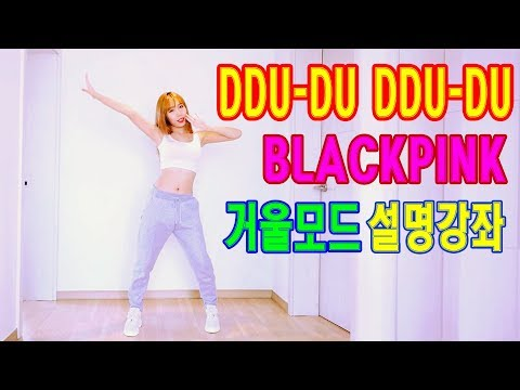 블랙핑크 뚜두뚜두 거울모드 느리게 BLACKPINK DDU-DU DDU-DU tutorial  Waveya