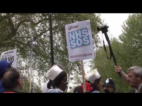 London NHS Demo: Stop the health cuts! Trade union-led national action on NHS needed now