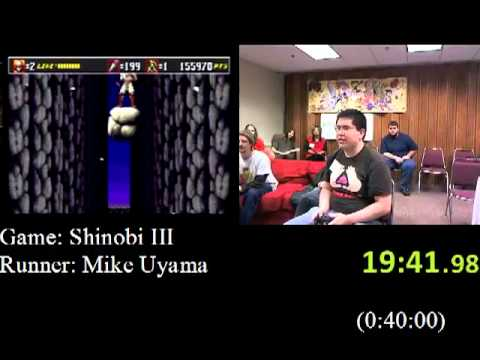 Shinobi III Speed Run 29:19 Part 2 2 AGDQ 2012