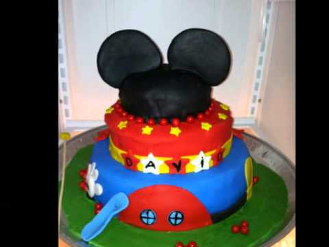 Mickey Mouse Birthday Cake - Torta de Mickey Mouse