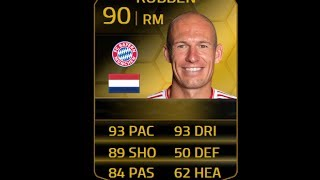 FIFA 14 SIF ROBBEN 90 Player Review & In Game Stats Ultimate Team