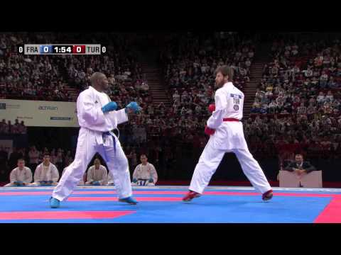 (2/4) Final Male Team Kumite. France vs Turkey. 21st WKF World Karate Championships 2012
