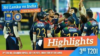 Sri Lanka seal series | 3rd T20I Highlights | Sri Lanka vs India 2021