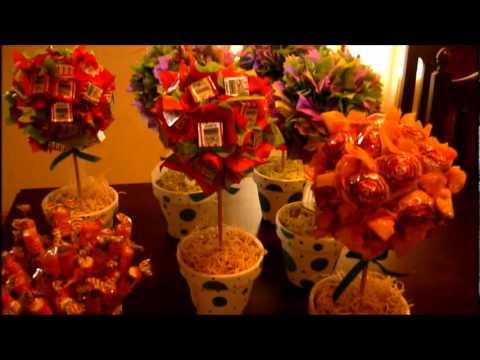 Centros de mesas muy dulces youtube - Macetas para centros de mesa ...
