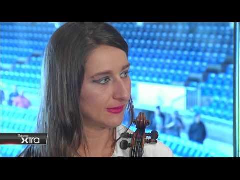 beIN SPORTS (EE.UU., QTAR y ESPAÑA) entrevistan a ELENA MIKHAILOVA en PUERTA 57 del BERNABEU