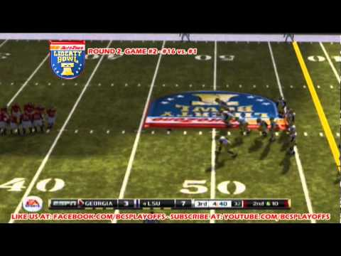 BCS Playoffs 2011, Round #2 - Game #2 - Liberty Bowl - #16 Georgia vs. #1 LSU