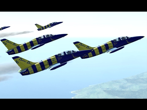 DCS World: Baltic Bees Jet Team - Aerobatics Flying Compilation 1440p 60 fps