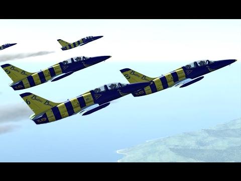 DCS World: Baltic Bees Jet Team - Aerobatics Flying Compilation 1440p 60 fps