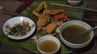 Mushroom turtle cooked with mountain crab, YUMMY