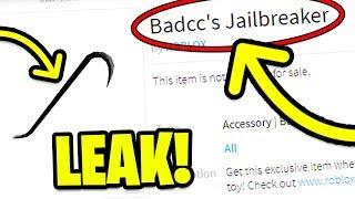 NEW BADCC JAILBREAK TOY! Roblox Jailbreak NEW TOY LEAK AND SECRET CODE! (Roblox Toys)