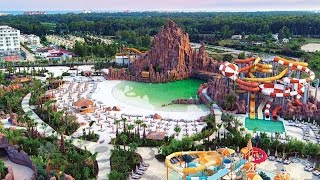 Американские Горки в Аквапарке The Land Of Legends Theme Park! Rixos World, Legends!