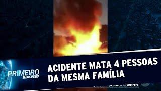 Acidente em rodovia de SP mata 4 pessoas da mesma família carbonizadas | Primeiro Impacto (16/07/19)