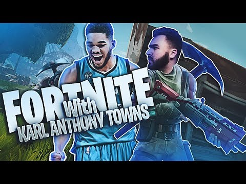 Playing FORTNITE with NBA ALL-STAR Karl-Anthony Towns thumbnail