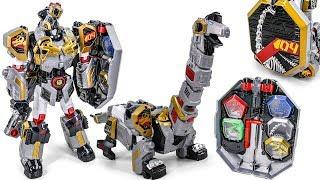 CaptainDino Geo Mecha 04 BrachioCannon Solid Dino Warrior Mode Transformation