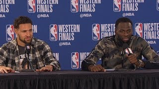 Klay Thompson & Draymond Green Postgame Interview - Game 3 | Warriors vs Blazers | 2019 NBA Playoffs