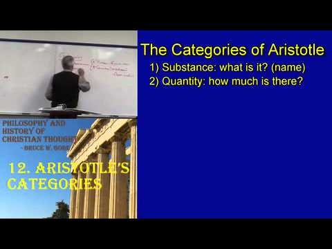 12. Aristotle's Categories