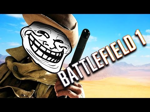 TROLLING SNIPERS ON BATTLEFIELD 1!! (Battlefield 1 Funny Moments)