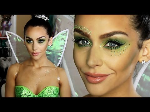 Tinkerbell 'fairy' Halloween Makeup Tutorial! video