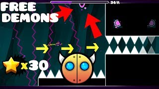 3 FREE DEMONS, SECRET WAYS (WORKING 2019) | Geometry Dash