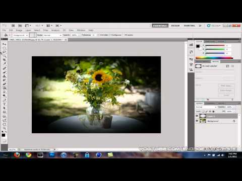 0 Photoshop Tutorial   How To Make a Vignette Effect