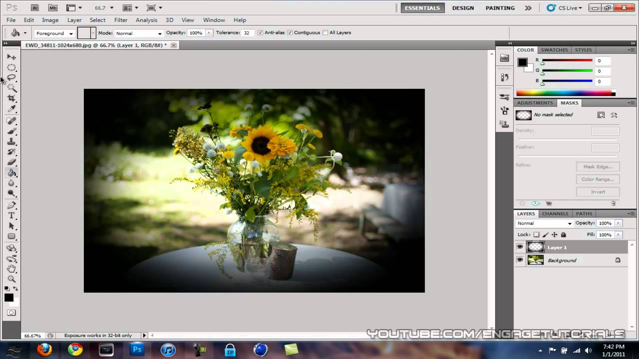 To add how vignette photoshop in