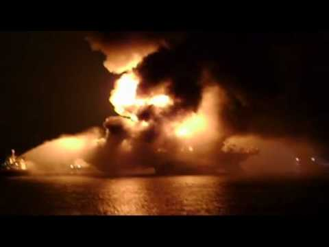 Newly Released Video of Transocean Rig Burning