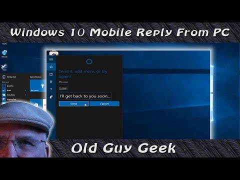 Windows 10 Mobile Text a Response From PC to Missed Call