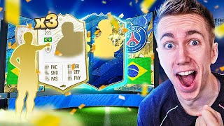 3 ICONS! 3 INSANE TOTS PLAYERS!!! (FIFA 20 PACK OPENING)